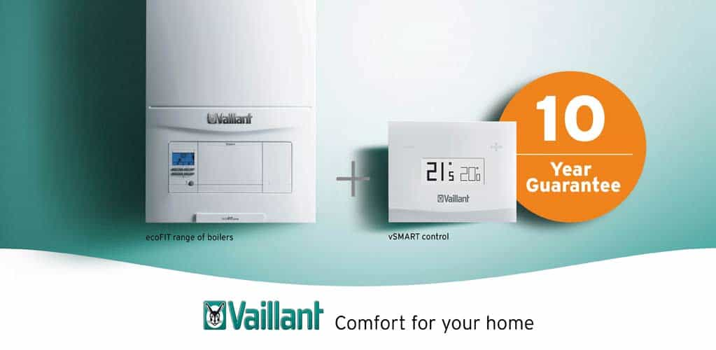 Vaillant Ecofit & vSmart controls with 10 year guarantee with these new boilers